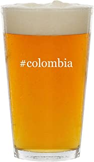 #colombia - Glass Hashtag 16oz Beer Pint