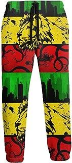 Cyloten Sweatpants Lion Jamaica Reggae Men's Trousers Durable Hip Hop Pants Sportswear with Pockets