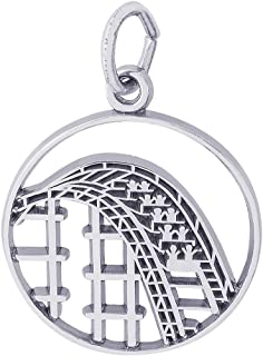 Sterling Silver Roller Coaster Charm (19 x 19 mm)