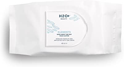 Makeup Wipes, Elements Wash the Day Away Facial Cleansing Wipes by H2O+ Beauty, 45 Count