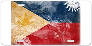 CafePress Philippines Flag Aluminum License Plate, Front License Plate, Vanity Tag