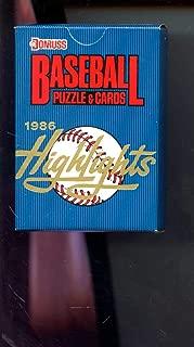 1986 Donruss Baseball Card Highlights Complete Set Box FACTORY SEALED