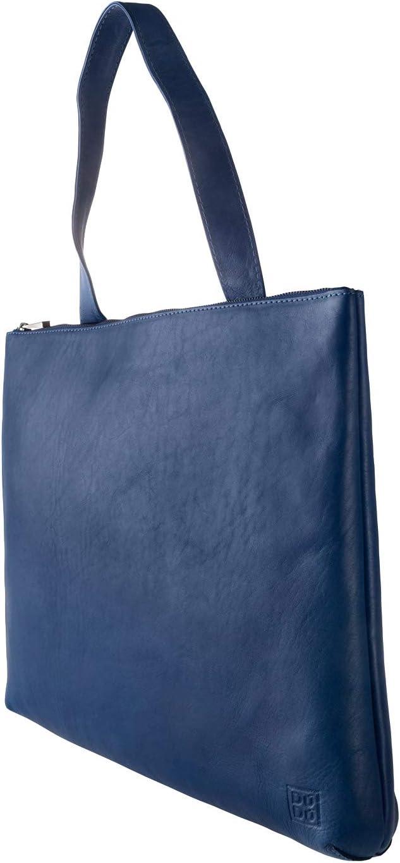 DUDU Sac porté épaule pour Femme en Cuir Souple Design Essentiel rectangulaire avec Fermeture éclair Rouge Bleu