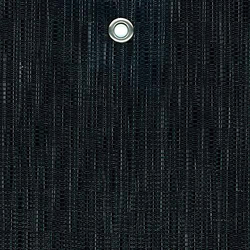 Tenax Texstyle All Black Filet tissé décoratif brise-vue en PVC et polyester, noir avec fils argentés