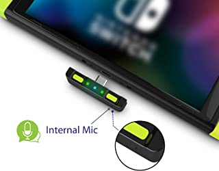 HomeSpot Bluetooth 5.0 Audio Transmitter Adapter with USB C Connector APTX Low Latency for Nintendo Switch Compatible with AirPods PS4 Bose Sony and Bluetooth Headphones Neon Yellow & Neon Yellow