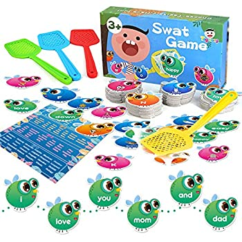 Sight Words Game for Kids Learning Educational Alphabet Toy Cards Game for Age 3,4,5,6,7 Children Visual Tactile and Auditory Learning Toys for Boys Girls 122Pcs