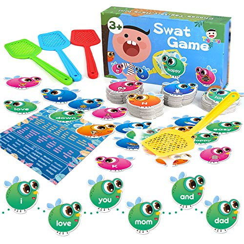 Sight Words Game for Kids Learning Educational Alphabet Toy Cards Game for Age 34567 Children Visual Tactile and Auditory Learning Toys for Boys Girls122Pcs