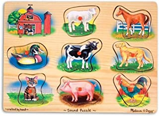 Melissa & Doug Classic Farm   Puzzles   Wood   2+   Gift for Boy or Girl