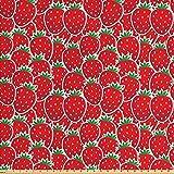 ABAKUHAUS Früchte Gewebe als Meterware, Lecker Erdbeer