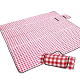 JEAOUIA Large Picnic Blankets Waterproof Foldable - Large Beach Blanket for Hiking Grass Travelling - Washable...