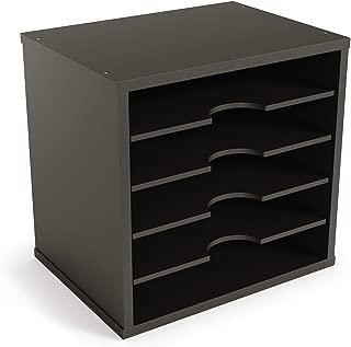 "$33 » Ballucci File Organizer Paper Sorter, 5 Tier Adjustable Shelves Office Desk Organizer, 12 1/2"" x 9 1/4"" x 12"", Black"