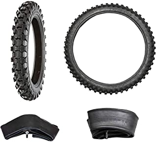 JCMOTO Complete Set of Tire and Inner Tube Front 70/100-19 & Rear 90/100-16 for Dirt Pit Bikes | Motocross Off Road Mud Motorcycle Tires + Tubes