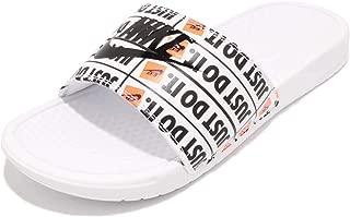 Nike Benassi JDI Print [631261-102] Men Sandals Slides Just Do It White/US 7.0