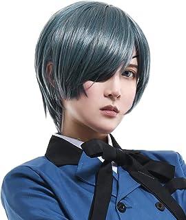Cosplay.fm Men's Ciel Phantomhive Cosplay Wig Greylish-Blue