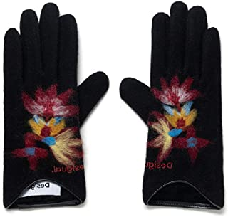 Desigual Gloves_Lovely Guantes para clima frío, Black, U para Mujer