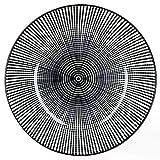 MamboCat Taipei 18-TLG. Teller-Set I Steingut-Geschirr für 6 Personen - modernes schwarz-weiß-Design I je 6X Flache Speiseteller - Tiefe Suppenteller - kleine Kuchenteller I Teller-Service 18 Teile - 3