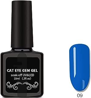 Cat Eyes Nail Polish, Nail Art Removable Nail Polish, Magnet Gem Wide Cat Eyes Colored Glass Star Glue,13