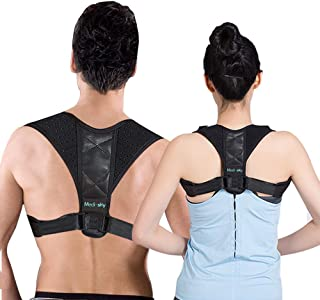 Posture Corrector for Men & Women, Comfortable Adjustable Upper Back Support and Neck Pain Relief,Slouching &Hunching Clavicle Brace - MEDI SKY