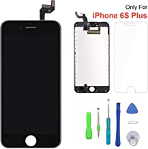 Screen Replacement for iPhone 6s Plus Black 3D Touch Screen LCD Digitizer Replacement Frame Display Assembly Set with Repair Tool Kits(6s Plus, Black)