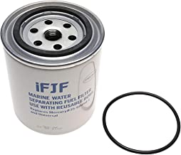 iFJF Aluminum Fuel Water Separating Filter Replacement Filter with O-ring fit 3/8 Inch NPT Outboard Motors