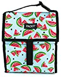 PACK IT 10 inch 10 hour Freezable Foldable Reusable Multipal Uses Lunch Bag with Adjustable Strap (WAP Green)