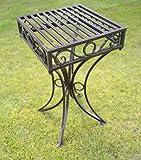 GardenMarketPlace Olive Grove, Beistelltisch oder Untergestell aus Metall, im Versailles-Stil und in antiker Bronzeausführung