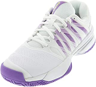 K-Swiss Women's Ultrashot 2 Tennis Shoe (White/Fairy Wren/Silver, 7.5)