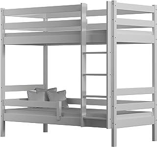 Children's Beds Home - Lit superposé en bois massif – Theo for Kids Toddler Junior – Dimensions : 190 x 90 cm, couleur bla...