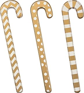 Primitives by Kathy Gold 9.50 Inches Tall Wood Candy Canes - Home Decor Accents