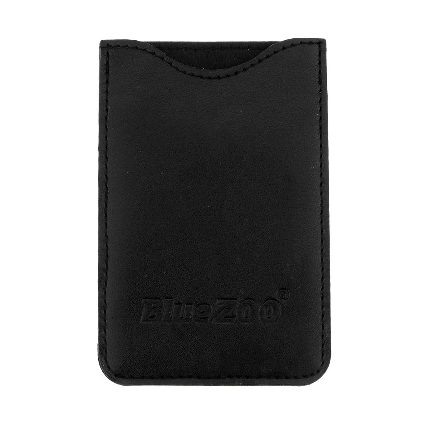 給料データム援助するFenteer コームバッグ 収納ケース 収納パック 保護カバー 櫛/名刺/IDカード/銀行カード オーガナイザー 全2色  - ブラック