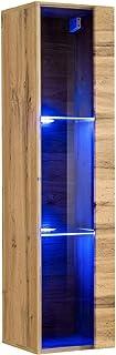 muebles bonitos – Mueble Colgante Modelo Berit LD 30x120 en Color Roble con LED