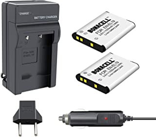 Bonacell EN-EL19 Battery(2 Pack) and Charger Compatible with Nikon Coolpix S32, S33, S100, S2800, S3100, S3200, S3300, S3500, S3600, S4100, S4200, S4300, S5200, S5300, S6500, S6600 S6800 S6900 S7000