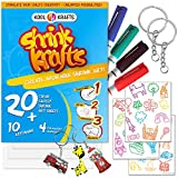 Shrink Krafts   Shrinky Paper Kit for Kids   Arts and Crafts for Girls & Boys Ages 6-12   Craft Kits Art Set   Indoor DIY Activity Craft Kits   Fun Creative Shrinky Charms for Kids   Great Crafts Gift