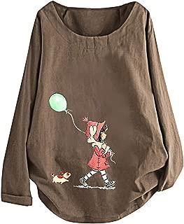 ❀♪ Women's Long Sleeve Cotton Linen Jacquard Blouses Top T-Shirt Linen Retro Chinese Frog Button Tops Blouse