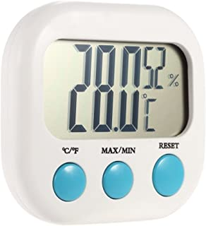 Anself Indoor Mini Digital Temperature Humidity Meter Thermometer Hygrometer Maximum Minimum Value Display