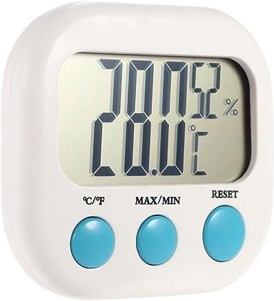 Anself Indoor Mini Digital Temperature Humidity Meter Thermometer Hygrometer Maximum Minimum Value Display