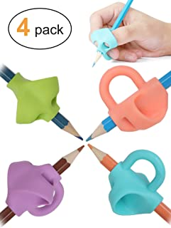 JARLINK Pencil Grips for Kids Handwriting, Aid Grip Trainer Posture Correction Finger Grip for Kids, Adults, Arthritis Designed for Righties or Lefties (4PCS)