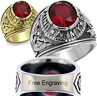 Customizable Army Ring - Free Engraving Included