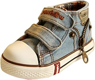 D.S.mor 2015 New Toddler Little Kid Big Kid Side Zipper High Top Canvas Shoes