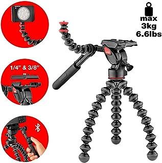 JOBY GorillaPod - Kit 3K Video Pro Trípode Profesional Flexible con Rótula de 2 Vías para Cámaras DSLR CSC/Sin Espejo y de Vídeo Peso hasta 3 kg JB01562-BWW
