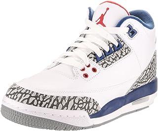 7416f5f2f95 Nike Jordan Kids Air Jordan 3 Retro Og Bg White Fire Red True Blue  Basketball