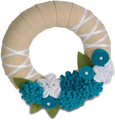 Pavilion Gift 89009 Signs of Happiness Aqua Wreath, 6-Inch