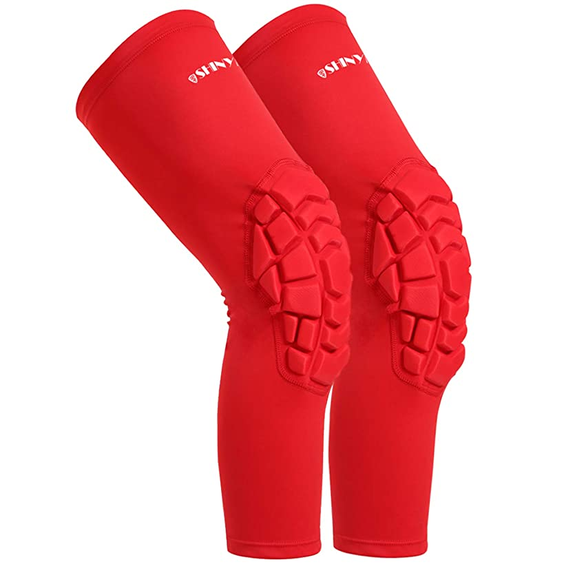 hex Knee Sleeves, 2XL Knee Brace,SHINYPRO Perfect Joint Pain Relief for Contract Team Sports, Volleyball Football Baseball Softball Cycling (Red, XXL)