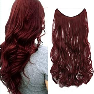 iLUU Wine Red Secret Halo Flip in Synthetic Hair Pieces 24