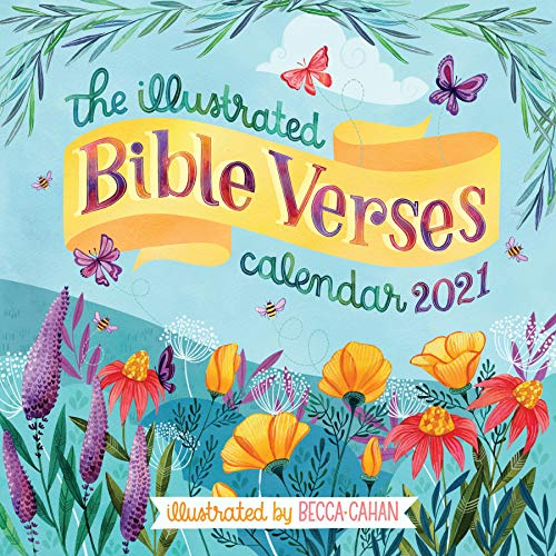 The Illustrated Bible Verses Wall Calendar 2021