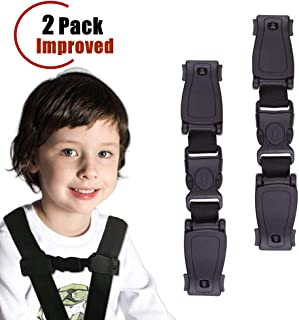 YBB 2 Pcs Upgraded Car Seat Chest Harness Clip, Car Seat Belt Buckle Clasp, Baby Chest Clip Guard for Car Seat, Stroller (2 pcs)