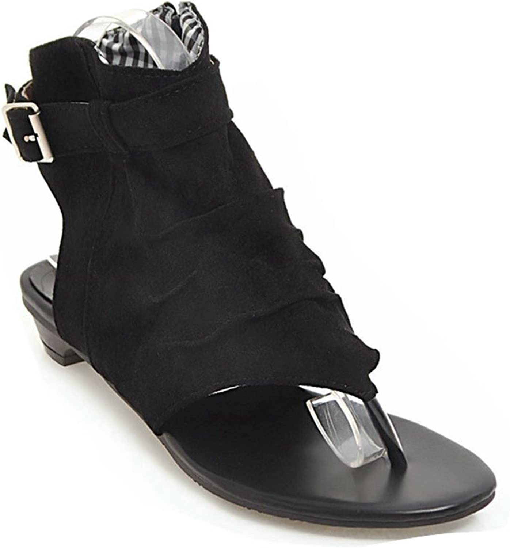 GIY Womens Canvas T-Strap Thong Flat Sandal Flops Flip Flops Flats Sandals