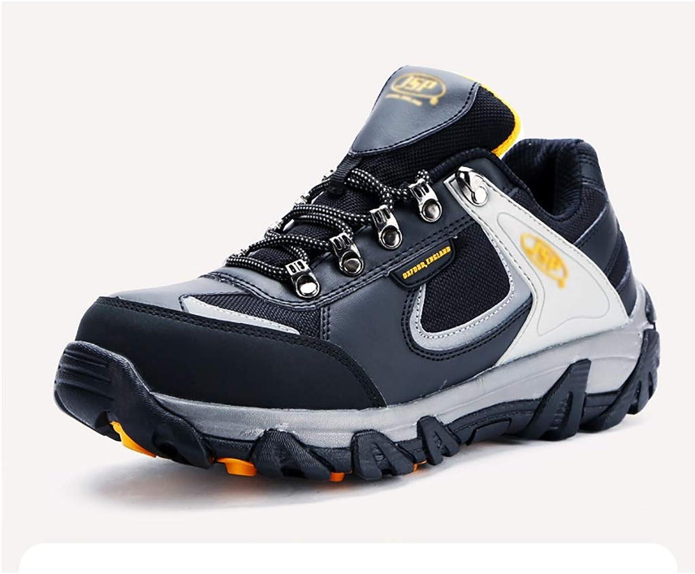 ZYFXZ Sicherheitsschuhe Anti-Milben- und Stichschutz-Schuhe für Herren, leichte Stahlkappe aus verschleifestem Kunstleder Arbeitsschuhe (Farbe   A, gre   42)