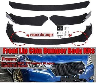 FXNB Kits De Spoiler De Parachoques Delantero Adecuados para Subaru WRX STI Impreza Legacy 2002-2019, Auto Body Spoiler Lip Chin Protector Splitter Diffusor, Schwarz, Black, Black