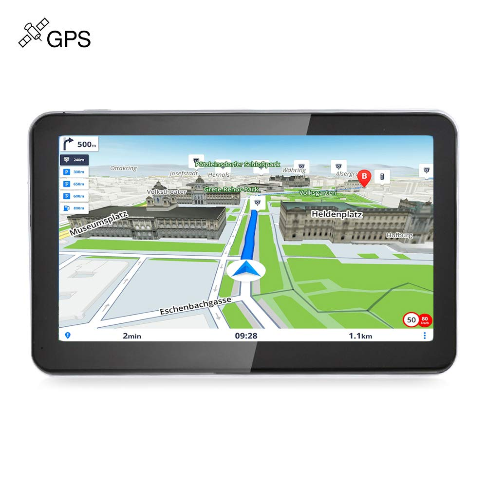 vetomile GPS coche 8 GB 7 pulgadas pantalla táctil navegación de auto navegador GPS de coche multi-langue tarjetas granuites de Europa sistema Win CE 6.0 Multimedia electrónico/Video/Audio FM/Unidad de juego: Amazon.es: Electrónica